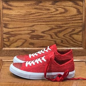 Converse CTAS X Flyknit Ox Casino Team Red Shoes